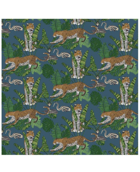 wallpaper---jungle-leaoprd-snake-blue2